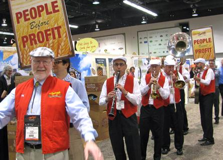 "High Society ""Marching Band"" playing for Bob (Bob's Redmill) at the Anaheim CC.  New Orleans style marching jazz band"
