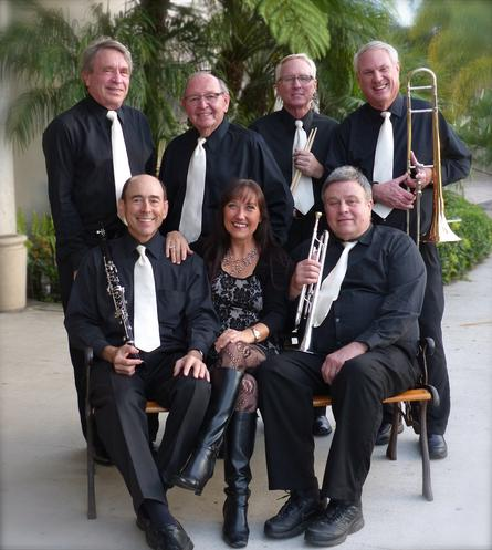 High Society Jazz Band with Janet Hammer at the San Diego Jazz Festival, Thanksgiving weekend, 2013
